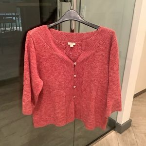 Red Marled Sweater